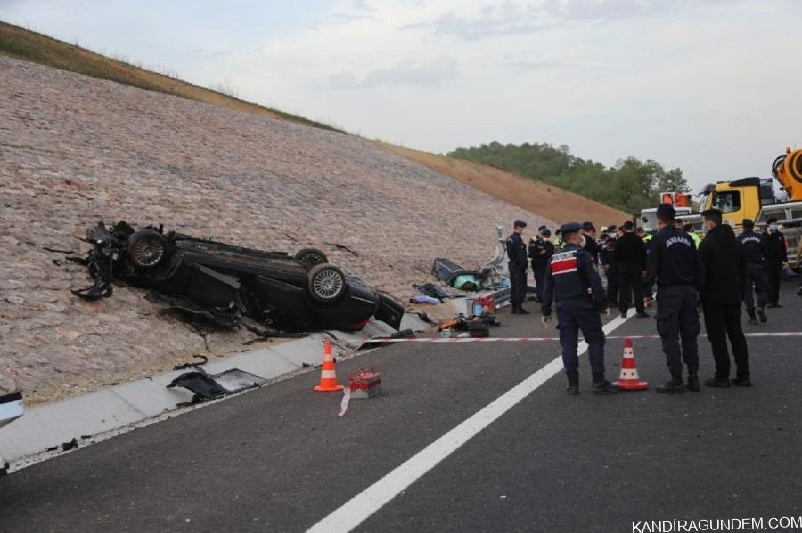 Kuzey Marmara Otoyolu'ndaki feci kazada ölenlerin kimlikleri belli oldu