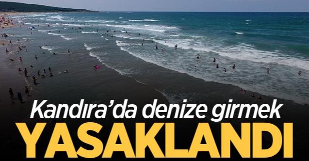Kandıra'daki plajlarda denize girmek yasaklandı